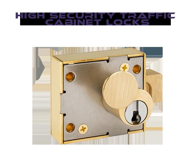 Traffic cabinet locks